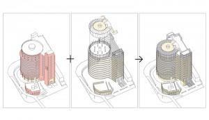 axnometric 300x173 复星大厦立面改造