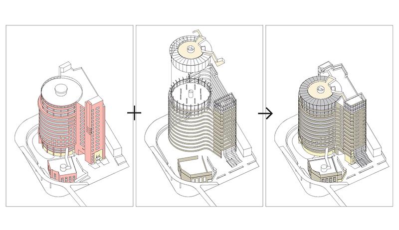 axnometric 复星大厦立面改造